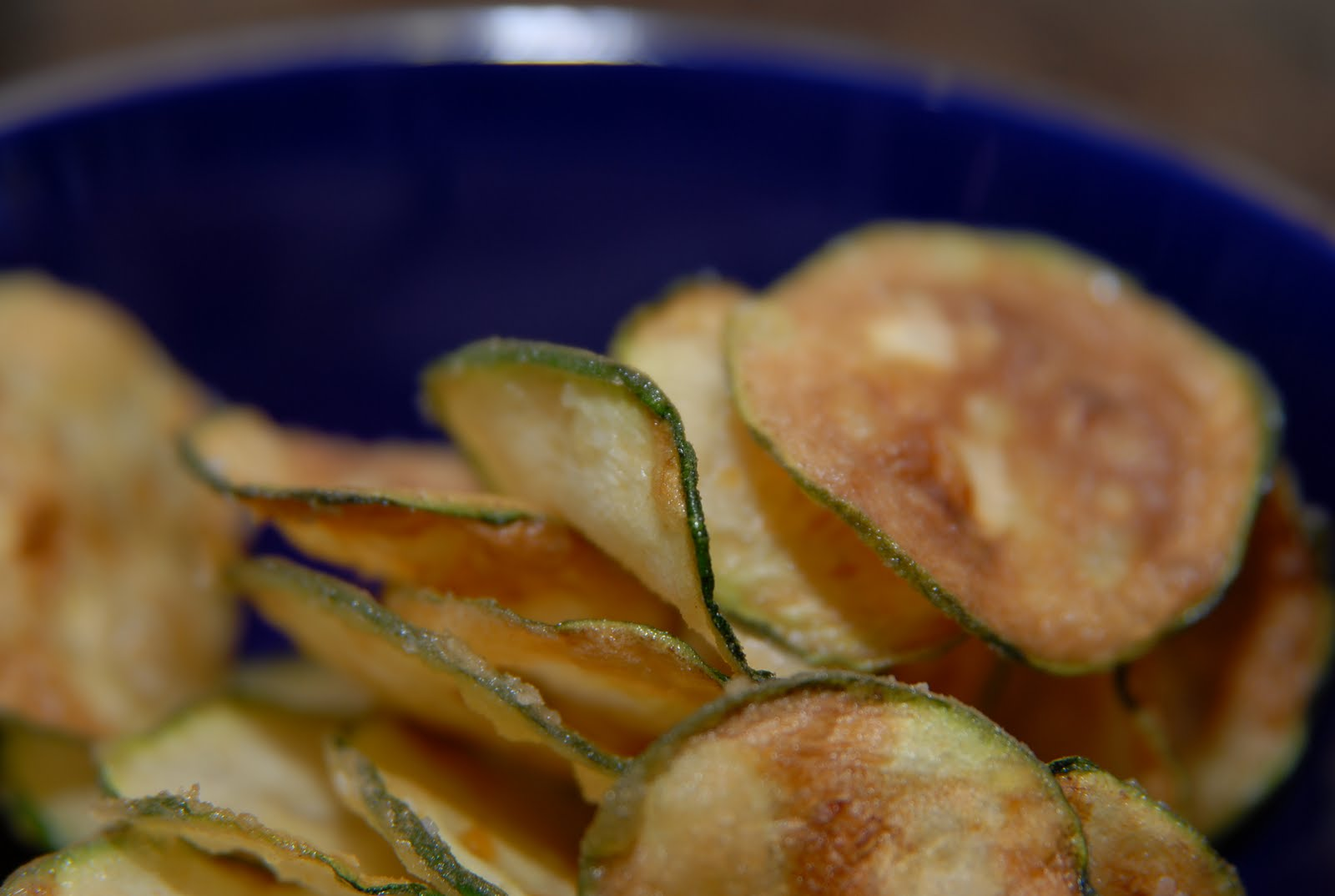 Aperitivos chips de calabacin