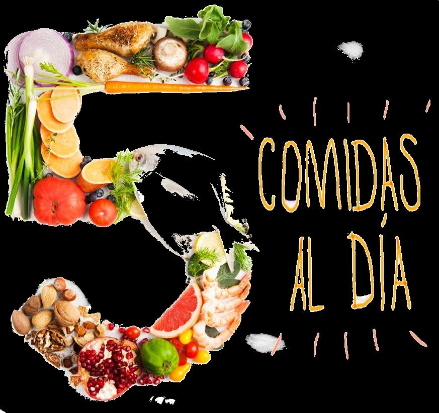 Comida basura 5 comidas al día