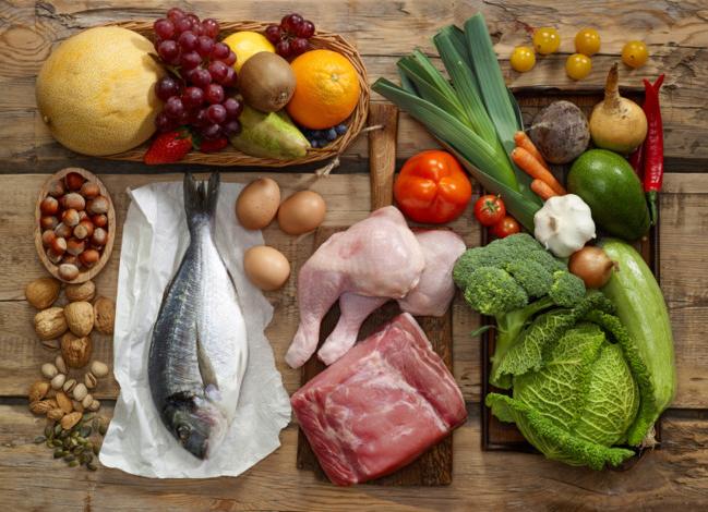 Comida basura comida variada
