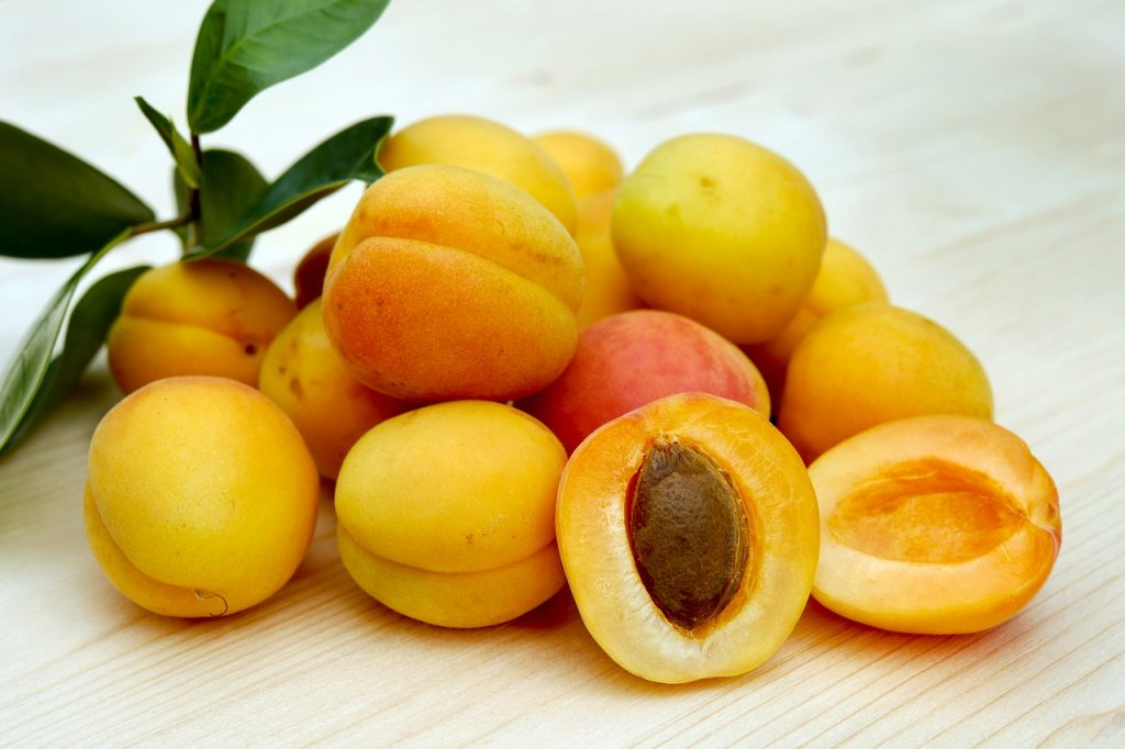 Frutas de verano albaricoque